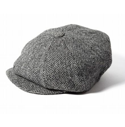 Carloway Newsboy herringbone grey